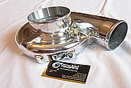 Precision Turbo Aluminum Turbo Housing AFTER Chrome-Like Metal Polishing and Buffing Services
