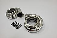 Borg Warner Aluminum Turbo Compressor Housing BEFORE Chrome-Like Metal Polishing and Buffing Services / Restoration Services - Aluminum Polishing - Turbo Polishing - Custom Paint