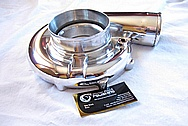 Aluminum Precision Turbo Housing AFTER Chrome-Like Metal Polishing and Buffing Services