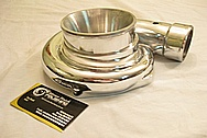 Precision / Garrett Turbo Aluminum Housing AFTER Chrome-Like Metal Polishing and Buffing Services