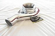 Toyota Supra 2JZ-GTE 3.0L Engine Aluminum Turbo Compressor Housing AFTER Chrome-Like Metal Polishing and Buffing Services