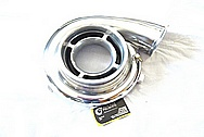 Aluminum Turbo Compressor Housing AFTER Chrome-Like Metal Polishing and Buffing Services