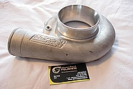 Aluminum Precision Turbo Housing BEFORE Chrome-Like Metal Polishing and Buffing Services