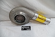 Nissan 300ZX Borg Warner Aluminum Turbocharger Compressor Housing BEFORE Chrome-Like Metal Polishing and Buffing Services