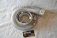 Borg Warner Aluminum Turbocharger Compressor Housing BEFORE Chrome-Like Metal Polishing and Buffing Services / Restoration Services