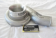 Toyota Supra 2JZ-GTE 3.0L Engine Aluminum Turbo Compressor Housing BEFORE Chrome-Like Metal Polishing and Buffing Services
