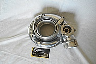 Borg Warner Aluminum Turbocharger Compressor Housing BEFORE Chrome-Like Metal Polishing and Buffing Services - Aluminum Polishing