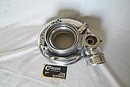 Mazda RX-7 Borg Warner Aluminum Turbocharger Compressor Housing BEFORE Chrome-Like Metal Polishing and Buffing Services - Aluminum Polishing