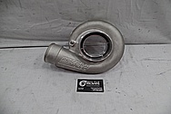 Precision Turbo Aluminum Turbocharger Compressor Housing BEFORE Chrome-Like Metal Polishing and Buffing Services - Aluminum Polishing
