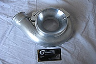 Aluminum Turbo Compressor Housing BEFORE Chrome-Like Metal Polishing and Buffing Services