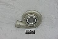 Precision Turbo Aluminum Compressor Housing BEFORE Chrome-Like Metal Polishing and Buffing Services - Aluminum Polishing - Turbo Polishing