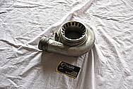 Aluminum Turbocharger Compressor Housing BEFORE Chrome-Like Metal Polishing and Buffing Services