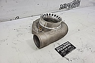 Precision Turbo Aluminum Turbo Housing BEFORE Chrome-Like Metal Polishing and Buffing Services / Restoration Services - Aluminum Polishing