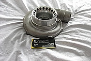 Precision Turbo Aluminum Turbocharger BEFORE Chrome-Like Metal Polishing and Buffing Services / Restoration Services