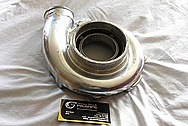 Aluminumg Turbo Compressor Housing BEFORE Chrome-Like Metal Polishing and Buffing Services / Restoration Services