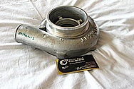Garrett Aluminum Turbocharger Compressor Housing BEFORE Chrome-Like Metal Polishing and Buffing Services / Restoration Services