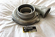 Garrett M24 Aluminum Turbocharger Compressor Housing BEFORE Chrome-Like Metal Polishing and Buffing Services / Restoration Services
