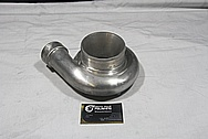 Aluminum Turbocharger Compressor Housing BEFORE Chrome-Like Metal Polishing and Buffing Services / Restoration Services