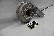 Garrett Aluminum Turbo Housing BEFORE Chrome-Like Metal Polishing and Buffing Services
