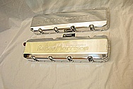 Roeher Morrison Racing Engines V8 Aluminum Valve Covers AFTER Chrome-Like Metal Polishing and Buffing Services