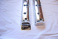 1950 Riley RMC 2 1/2 Aluminum Valve Covers AFTER Chrome-Like Metal Polishing and Buffing Services