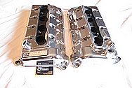 Ford Mustang Shelby GT500 Aluminum Valve Covers AFTER Chrome-Like Metal Polishing and Buffing Services