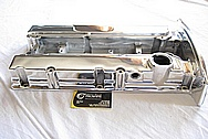 2006 Mitsubishi EVO 9 Turbo Aluminum Valve Cover AFTER Chrome-Like Metal Polishing and Buffing Services Plus Clearcoating Services