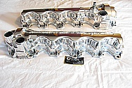 2005, 2006, 2007, 2008, 2009, 2010 Ford Mustang 4.6L V8 Magnesium Valve Covers AFTER Chrome-Like Metal Polishing and Buffing Services Plus Clearcoating Services