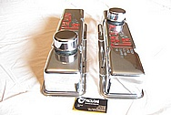 Bill Mitchell 427 Cubic Inch 525HP Engine Aluminum Valve Covers AFTER Chrome-Like Metal Polishing and Buffing Services Plus Clearcoating and Custom Painting Services