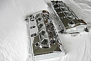 Ford Mustang GT500 4.6L V8 DOHC Aluminum Valve Covers AFTER Chrome-Like Metal Polishing and Buffing Services