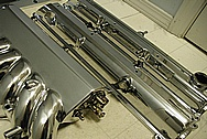 Toyota Supra 2JZ-GTE 3.0 L Turbo Aluminum Valve Covers AFTER Chrome-Like Metal Polishing and Buffing Services