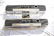 1966 Pontiac GTO M/T Aluminum Valve Covers AFTER Chrome-Like Metal Polishing and Buffing Services