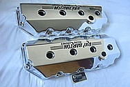 Ray Barton 572 Cubin Inch Engine V8 1990 Dodge Daytona Aluminum Valve Covers AFTER Chrome-Like Metal Polishing and Buffing Services