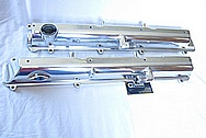 1993-1998 Toyota Supra Turbo 2JZ-GTE Aluminum Valve Covers AFTER Chrome-Like Metal Polishing and Buffing Services