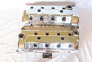 Ford Mustang V8 Aluminum Valve Covers and Coil Covers AFTER Chrome-Like Metal Polishing and Buffing Services
