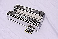Vintage Aluminum Ford Thunderbird Aluminum Valve Covers AFTER Chrome-Like Metal Polishing and Buffing Services