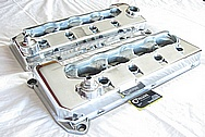 Ford Mustang Cobra 4.6L DOHC Engine Aluminum Valve Covers AFTER Chrome-Like Metal Polishing and Buffing Services