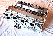 Late Model 502 Chevy V8 Big Block Aluminum Valve Covers AFTER Chrome-Like Metal Polishing and Buffing Services