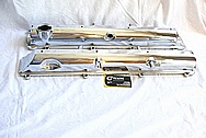1993-1998 Toyota Supra 2JZ-GTE Aluminum Valve Covers AFTER Chrome-Like Metal Polishing and Buffing Services