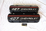 Big Block Chevy V8 Aluminum Valve Covers AFTER Chrome-Like Metal Polishing and Buffing Services