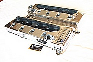 Chevy Corvette Aluminum Valve Covers AFTER Chrome-Like Metal Polishing and Buffing Services Plus Custom Painting Services