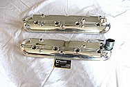 Chevrolet Camaro LS3 Aluminum Valve Covers AFTER Chrome-Like Metal Polishing and Buffing Services