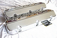 Chevrolet Aluminum Engine Valve Covers AFTER Chrome-Like Metal Polishing and Buffing Services