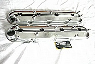 Chevrolet LS1 Aluminum Engine Valve Covers AFTER Chrome-Like Metal Polishing and Buffing Services Plus Painting Services