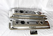 Chevrolet Corvette Aluminum Engine Valve Covers AFTER Chrome-Like Metal Polishing and Buffing Services Plus Painting Services