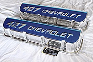 Chevrolet 427 Aluminum Valve Covers AFTER Chrome-Like Metal Polishing and Buffing Services Plus Painting Services