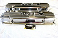 Mickey Thompson Aluminum Valve Covers AFTER Chrome-Like Metal Polishing and Buffing Services / Restoration Services
