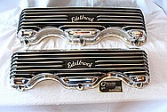 Edelbrock Aluminum Valve Covers AFTER Chrome-Like Metal Polishing and Buffing Services / Restoration Services Plus Custom Painting Services