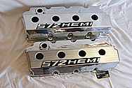 HEMI 572 Aluminum Valve Covers AFTER Chrome-Like Metal Polishing and Buffing Services / Restoration Services Plus Custom Painting Services Plus Custom Painting Services
