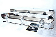 Ford Mustang Fox Lake Power Products Aluminum Valve Covers AFTER Chrome-Like Metal Polishing and Buffing Services / Restoration Services